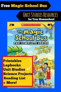 FREE Magic School Bus Unit Study Resources for Homeschoolers: Below you'll find a huge list of free Magic School Bus Unit Study Resources for your homeschool studies. MSB inspired science projects, lapbooks, printables and more! Science Lessons, Teaching Science, Science Activities, Science Projects, Science Ideas, Steam Activities, Preschool Science, Teaching Kids, Homeschool Kindergarten