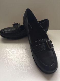 f0fa27cce17d Clarks Women s Black Slip on Loafer 9.5 Evan brand