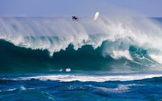Wipeout! Joel Parkinson, world no1 surfer 2012 from Coolangatta, Qld wiping out at Oahu, Hawaii
