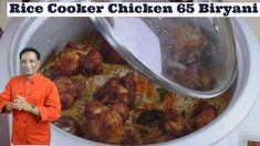 Rice Cooker Fried Chicken Biryani - Chicken 65 Biryani in Rice Cooker - Instant Lunch Box Recipe - YouTube