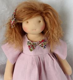 Reserved for K. - 3rd payment/3  for Sarah, inspired waldorf doll about 17 inches