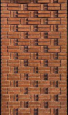 Image 9 of 40 from gallery of Raj Villa / CSD Office. Photograph by Mohammad Hassan Ettefagh Brick Cladding, Brick Facade, Brick Design, Facade Design, Brick Architecture, Architecture Details, Brick Bonds, Brick Projects, Brick Detail
