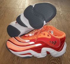 NEW ADIDAS REAL DEAL Baskerball MENS 8.5 Red Orange crazy LIMITED $120 #adidas #Athletic