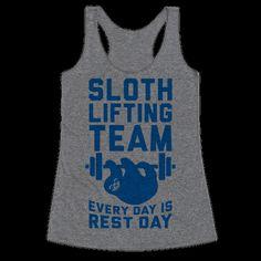 Sloth Lifting Team | T-Shirts, Tank Tops, Sweatshirts and Hoodies | HUMAN
