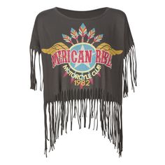 FREEZE Rebel Fringe Womens Top found on Polyvore
