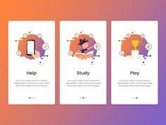 App Guide Screens designed by Creative Era. the global community for designers and creative professionals. Web Design, App Ui Design, Mobile App Design, Interface Design, Page Design, Icon Design, Graphic Design, Onboarding App, Web Mobile