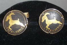 Vintage Gold Tone Capricorn Capricornio Ram Cuff Links Cufflinks Zodiac  by ShonnasVintage, $24.99