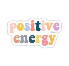 Positive Energy Sticker The post Positive Energy Sticker & Sticker drucken appeared first on Print . Tumblr Stickers, Phone Stickers, Cool Stickers, Printable Stickers, Preppy Stickers, Cute Laptop Stickers, Macbook Stickers, Positive Energie, Homemade Stickers