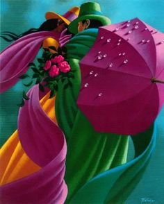 We are professional Claude Theberge supplier and manufacturer in China.We can produce Claude Theberge according to your requirements.More types of Claude Theberge wanted,please contact us right now! Umbrella Art, Under My Umbrella, Canadian Painters, Canadian Artists, Illustrations, Illustration Art, Abstract Painters, Art Graphique, Color Of Life