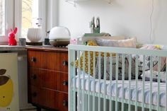 Dusty Aqua moKee Mini Cot