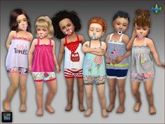 Pjs and pacifiers for toddler girls by mabra at arte della vita Fashion Kids, Little Girl Fashion, Toddler Fashion, Cc Fashion, Sims 4 Toddler Clothes, Toddler Girl Outfits, Kids Outfits, Toddler Girls, Sims 4 Cc Skin