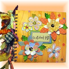Baby Album for Grandparents, Hand drawn with many colorful doodles