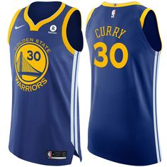 Golden State Warriors Nike Men s Stephen Curry  30 Authentic On Court Icon  Jersey - Royal b3799e2ff