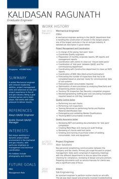 mechanical engineer Resume example