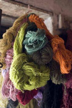 Yarn in Kashmir, India from My Marrakesh blog.