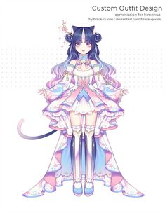 commissions for himehua custom outfit design commission only the commissioner has permission to use, please do not use or repost. c: himehua Kawaii Art, Kawaii Anime, Drawing Anime Clothes, Natsume Yuujinchou, Anime Dress, Art Costume, Cute Anime Pics, Anime Fairy, Cute Chibi