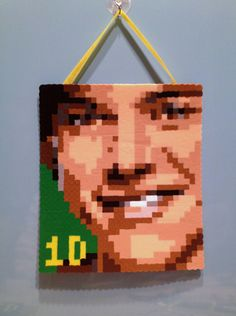 ONE DIRECTION Harry Styles Perler Bead Hanging Art by PixelFolk, $12.00