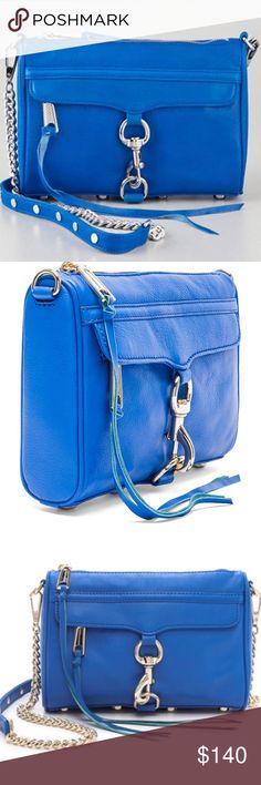 "Rebecca Minkoff Mini MAC crossbody Detachable crossbody strap Zip closure; lined Exterior zip pocket, interior slip pocket 9""W x 2""D x 6""H; 20"" strap drop Leather; lining: faille Rebecca Minkoff Bags Crossbody Bags"