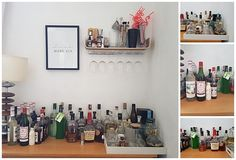 My Home Bar Woes - how to sort this mess of bottles into something pretty?  #lblogger