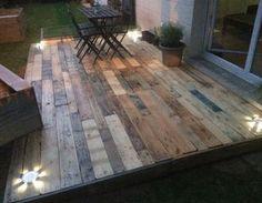 Terrasse palettes pour jardin jardin,terrasse bois palette récup montage mise à niveau