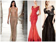 Gold, Red, Black! #fashion #dress #runway