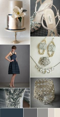 Navy wedding - could easily add blush in this mix