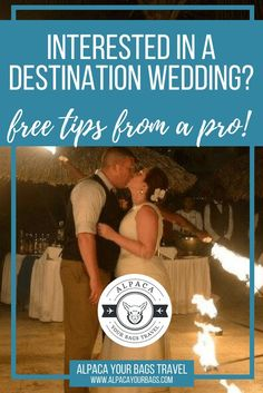 Interested in a Destination Wedding?  I'm a travel agent AND a destination wedding bride - that's me in the photo!  Download my FREE book to learn my best tips and tricks! // Alpaca Your Bags Travel