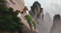 ArtStation - Some painterly pieces, Alexandre Pinto Brainstorm School, Mount Rushmore, Exercises, Artworks, Layers, Mountains, Painting, Travel, Layering