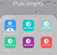 Applications mobiles Emploi Store : Onisep, FrenchTech, Kudoz, CVtube...