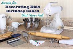 Discover the secrets to successfully decorating kids birthday cakes every time. These tips will ensure no more birthday cake failures. Click to read.