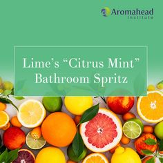 """Learn to make """"Lime Essential Oil's """"Citrus Mint"""" Bathroom Spritz"""" Lime essential Oil (Citrus aurantifolia) makes every room fresh, inviting and clean! It reminds me of being in a citrus orchard! When you add the Peppermint essential oil (Mentha x piperita) it turns into the best air freshener!"""