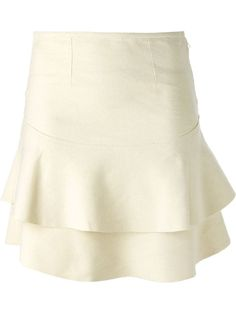 NWT Gorgeous! ISABEL MARANT Etoile Gilment Mini Skirt, sz Fr 38, Ecru #IsabelMarant #Mini