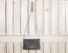 80s vintage grey leather crossbody by GreenCanyonTradingCo on Etsy, $42.00