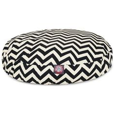 Majestic Pet Products Black Chevron Small Round Pet Bed