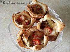 Kuchnia domowa Ani: Koszyczki z ciasta francuskiego z pieczarkami Tacos, Pie, Mexican, Ethnic Recipes, Desserts, Food, Torte, Tailgate Desserts, Cake
