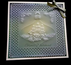 Clarity Card, Parchment Design, Parchment Cards, Newspaper Crafts, Christmas Cards, Christmas Ornaments, Barbara Gray, Frame, Pattern