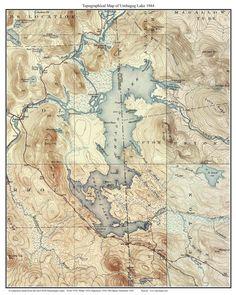 Belgrade Lakes Old Topographic Map USGS Custom Composite - Maine lakes map
