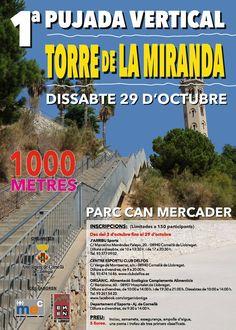 """Cuántas veces has """"sufrido"""" las escaleras de la Torre la Miranda? Te proponemos que repitas, pero con una motivación EXTRA! Subida y a lo loco!! Aún estás a tiempo de apuntarte!"""