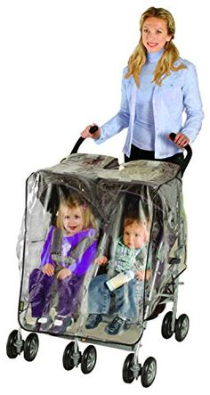 Nuby Side by Side Stroller Weather Shield Fits most tandem strollers Offers a convenient see-through essentials pocket Air holes on both sides provides ventilation Twin Strollers, Double Strollers, Tandem Pushchair, Side By Side Stroller, Twin Pram, Luxury Vinyl, Cool House Designs, Twins, Triplets