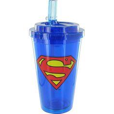 Superman 16 oz. Flip-Straw Travel Cup