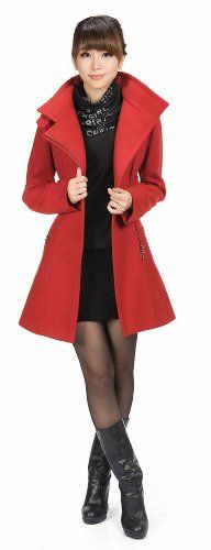 TOPSELLER! LANHUACAO Woolen Coat with Belt Military Trench Coat Women $64.99