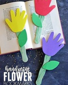 I love multi purpose crafts! Handprint keepsake bookmarks from @darice_crafts are a perfect craft to do with your kids to prep them for Mother's Day Do you prefer handmade or store bought gifts for Mother's Day?