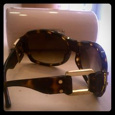 Jimmy Choo tortoise shell Sunglasses In mint condition. Wore very rarely. 100% authentic. Offers welcome case included Jimmy Choo Accessories Sunglasses
