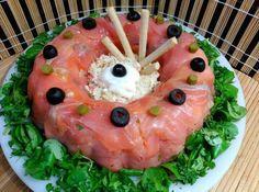 Corona de salmón ahumado