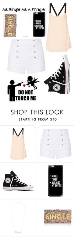 """""""Like if your as Single as a Pringle!"""" by ravenclaw20232 ❤ liked on Polyvore featuring 10 Crosby Derek Lam, Pierre Balmain, Converse, Pringle of Scotland, Casetify, True Rocks and Milly"""