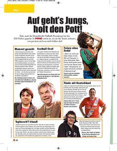 Titelgeschichte zur EM 2012  erschienen in PRINZ Düsseldorf 06/2012, Seite 9/9