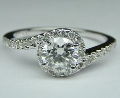 Swirl Engagement Ring $778 I LOVEE this.. Different but classy