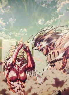 SNK Annie vs Eren