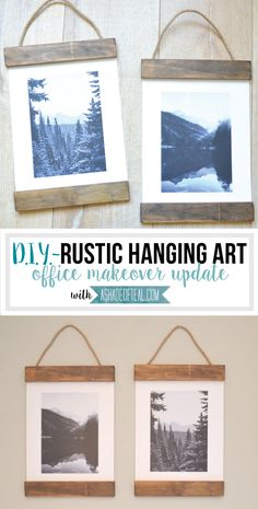 Such an easy way to hang a printable or favorite photo!