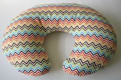 Multicolor zigzag/chevron nursing pillow cover--fits Boppy and other nursing pillows   #baby shower gift